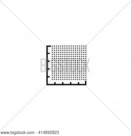 Icon Plot Area In Acres, Square Metres, Kilometres, Feet, Yards, Miles, Hectare, Are. Vector Dimensi
