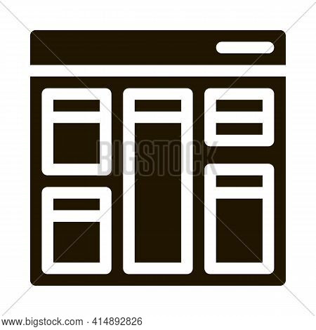 Web Site Layout Glyph Icon Vector. Web Site Layout Sign. Isolated Symbol Illustration