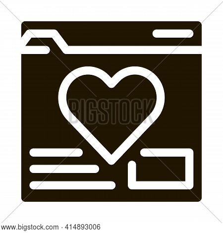 Creature Dating Site Glyph Icon Vector. Creature Dating Site Sign. Isolated Symbol Illustration
