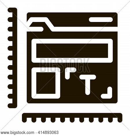 Creature And Design Web Site Glyph Icon Vector. Creature And Design Web Site Sign. Isolated Symbol I