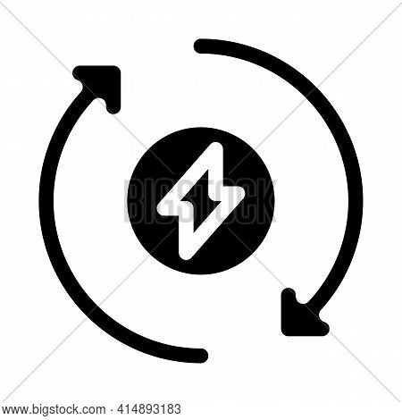 Heating Circulation Glyph Icon Vector. Heating Circulation Sign. Isolated Symbol Illustration