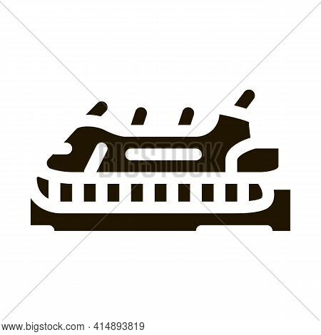 Rescue Hovercraft Glyph Icon Vector. Rescue Hovercraft Sign. Isolated Symbol Illustration