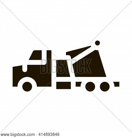 Rescue Truck Glyph Icon Vector. Rescue Truck Sign. Isolated Symbol Illustration