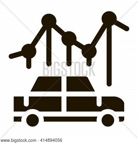 Car Use Infographic Glyph Icon Vector. Car Use Infographic Sign. Isolated Symbol Illustration