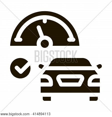 Speed Control Glyph Icon Vector. Speed Control Sign. Isolated Symbol Illustration