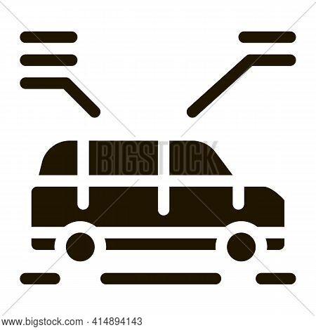 Car Characteristics Glyph Icon Vector. Car Characteristics Sign. Isolated Symbol Illustration