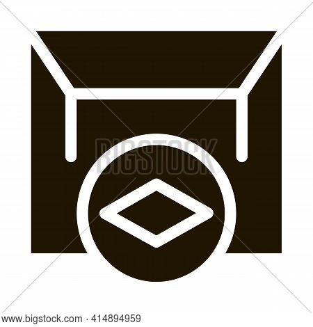Matte Canvas Stretch Ceiling Glyph Icon Vector. Matte Canvas Stretch Ceiling Sign. Isolated Symbol I