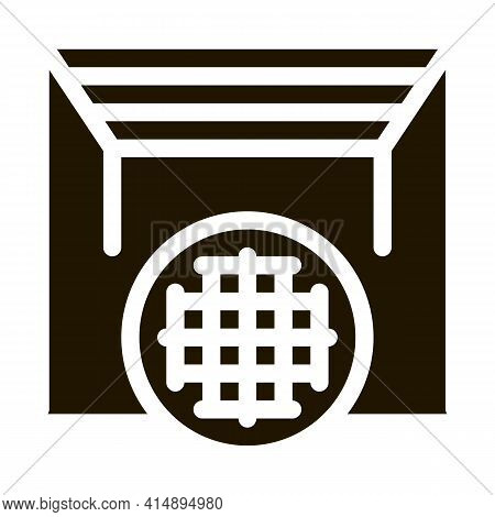 Seamless Fabric Ceilings Glyph Icon Vector. Seamless Fabric Ceilings Sign. Isolated Symbol Illustrat