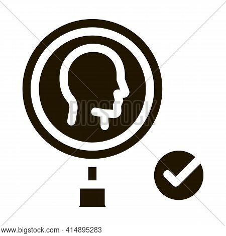 Human Research Approved Mark Glyph Icon Vector. Human Research Approved Mark Sign. Isolated Symbol I