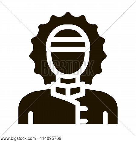 Polar Man Glyph Icon Vector. Polar Man Sign. Isolated Symbol Illustration