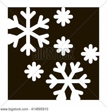 Snow Flakes Glyph Icon Vector. Snow Flakes Sign. Isolated Symbol Illustration