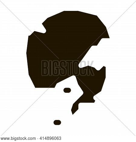Nothern Pole Glyph Icon Vector. Nothern Pole Sign. Isolated Symbol Illustration
