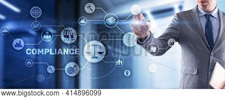 Compliance Regulation Business Technology Concept. Risk Control And Management System