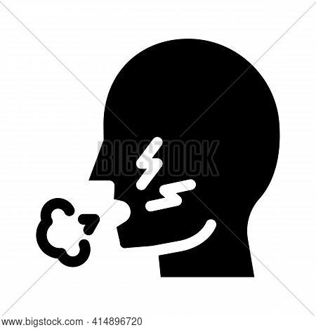 Cough Asthma Glyph Icon Vector. Cough Asthma Sign. Isolated Symbol Illustration