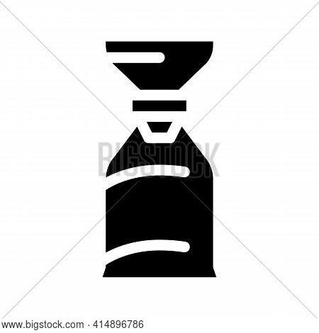 Air Bag For Asthmatic Glyph Icon Vector. Air Bag For Asthmatic Sign. Isolated Symbol Illustration
