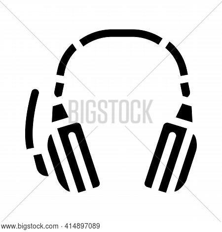 Headphones Accessories Glyph Icon Vector. Headphones Accessories Sign. Isolated Symbol Illustration