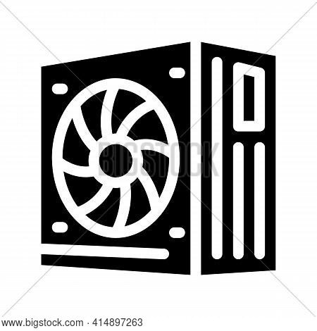 Power Supply Glyph Icon Vector. Power Supply Sign. Isolated Symbol Illustration