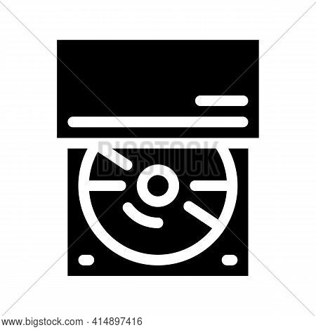 Optical Disc Drive Glyph Icon Vector. Optical Disc Drive Sign. Isolated Symbol Illustration