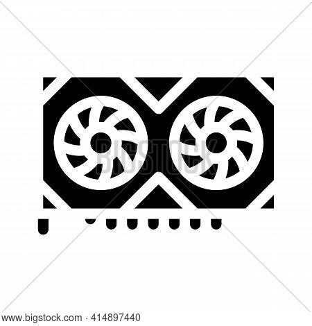 Video Adapter Glyph Icon Vector. Video Adapter Sign. Isolated Symbol Illustration