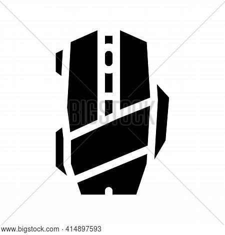Mouse Computer Device Glyph Icon Vector. Mouse Computer Device Sign. Isolated Symbol Illustration