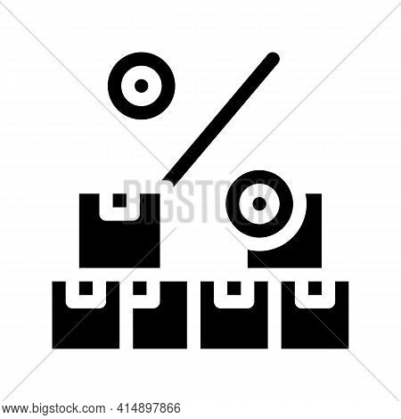 Wholesale Purchase Discount Glyph Icon Vector. Wholesale Purchase Discount Sign. Isolated Symbol Ill