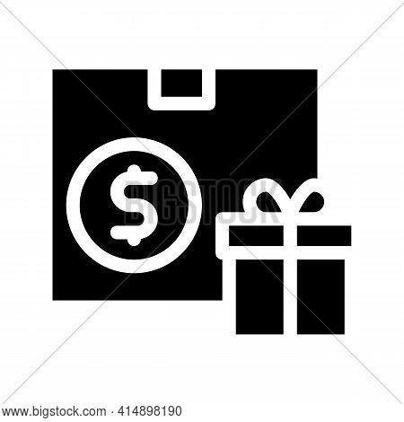 Delivered Order And Present Glyph Icon Vector. Delivered Order And Present Sign. Isolated Symbol Ill