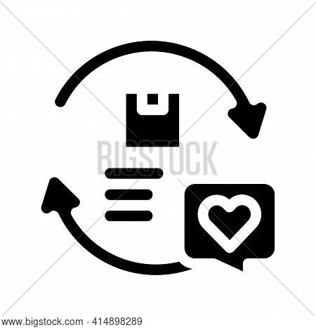 Company And Client Circular Relationship Glyph Icon Vector. Company And Client Circular Relationship