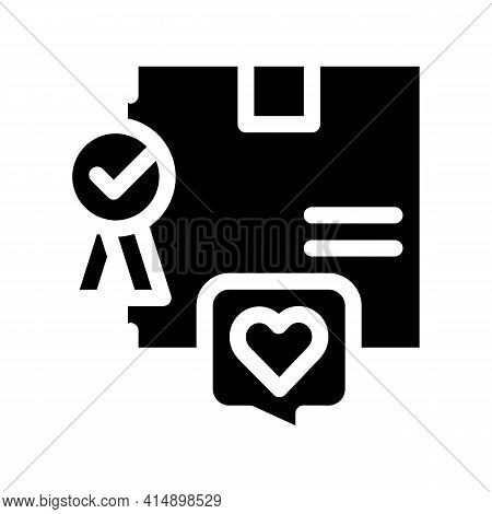 Best Product Bought Client Glyph Icon Vector. Best Product Bought Client Sign. Isolated Symbol Illus