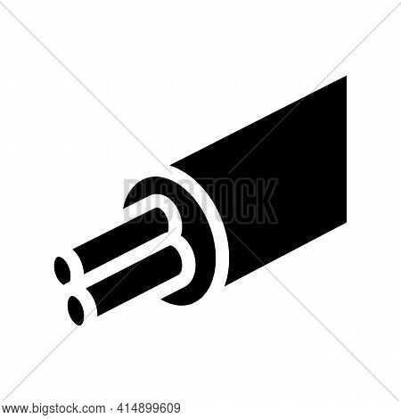 Cable With Electrical Cords Glyph Icon Vector. Cable With Electrical Cords Sign. Isolated Symbol Ill