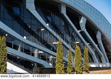 Belarus, Minsk - March 24: Facade Of A Building In The Ski Resort Solnechnaya Dolina