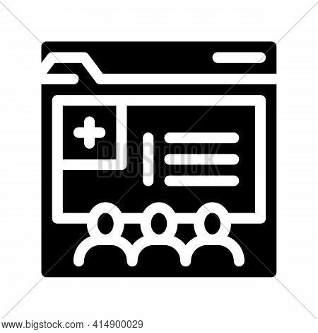 Medical Web Site Visiting People Glyph Icon Vector. Medical Web Site Visiting People Sign. Isolated