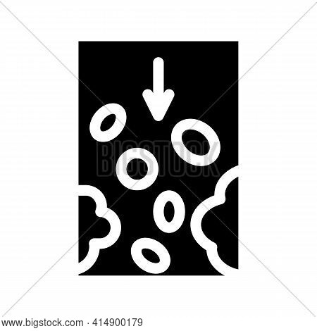 Atherosclerosis Vessel Problem Glyph Icon Vector. Atherosclerosis Vessel Problem Sign. Isolated Symb