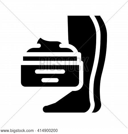 Cream Treatment Varicose Veins Glyph Icon Vector. Cream Treatment Varicose Veins Sign. Isolated Symb