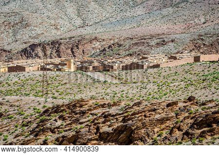 Abandoned Minery Village Of Aouli Near Midelt In Morocco