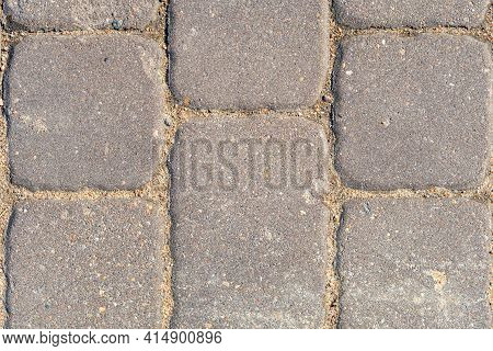 Paving Slabs Close Up, Texture Of Concrete Paving Stone, Stone Background