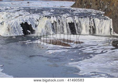 Winter Snowy Falls