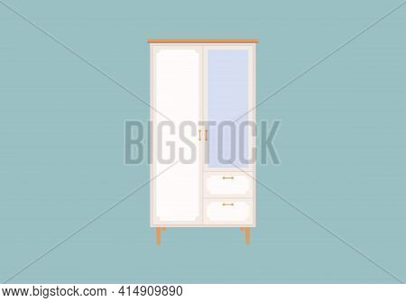 Wardrobe Icon Isolated On Blue Background From Antique Collection. Wardrobe Icon Trendy And Modern W