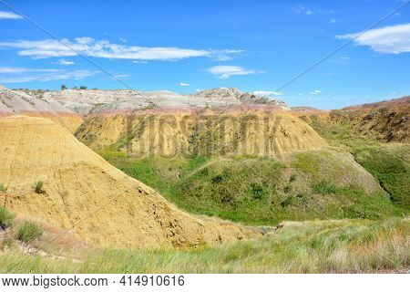 The Yellow Mounds of the Badlands National Park are an example of a paleosol or fossil soil.