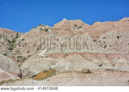 Badlands National Park an American national park located in southwestern South Dakota with of sharply eroded buttes and pinnacles.
