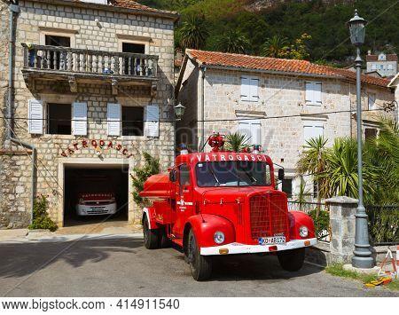 PERAST, MONTENEGRO - SEPTEMBER 08: Fire station on September 08, 2015 in Perast, Montenegro.