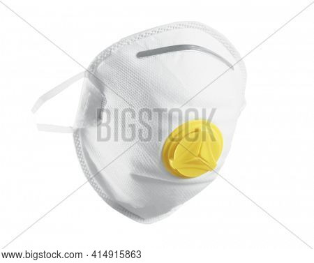 Mask, Corona virus protection N95, Covid-19. Isolated on white background. Breathing medical respiratory protective mask. Coronavirus, hospital or pollution protect face masking