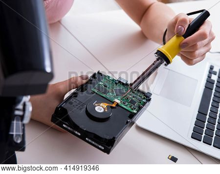 Hard drive repair and data recovery with restoration