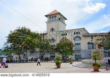 HAVANA, CUBA - JULY 21, 2016: Terminal Sierra Maestra cruise terminal, Avenida del Puerto, Old Havana (La Habana Vieja), Cuba.