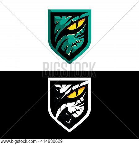 Predator Or Raptor Eye Insignia  New Updated Version Vector With Monochrome Version