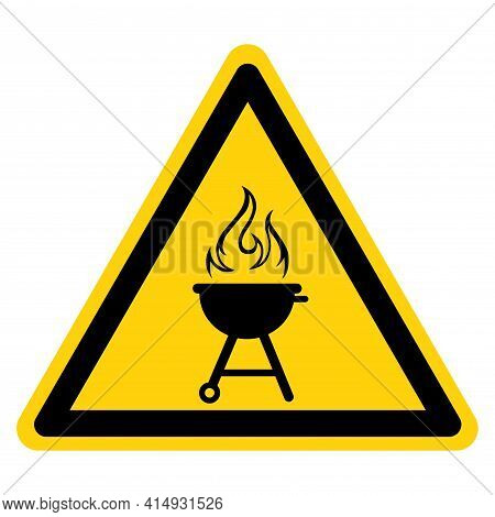 Bbq Barbeque Symbol Sign,vector Illustration, Isolate On White Background Label. Eps10