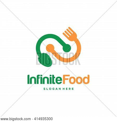 Infinity Food Restaurant Logo Designs Concept Vector, Infinity And Food Logo Template