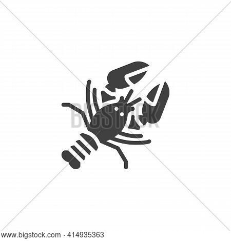 Lobster Seafood Vector Icon. Filled Flat Sign For Mobile Concept And Web Design. Fresh Lobster Food
