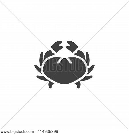 Crab, Seafood Vector Icon. Filled Flat Sign For Mobile Concept And Web Design. Fresh Crab Glyph Icon