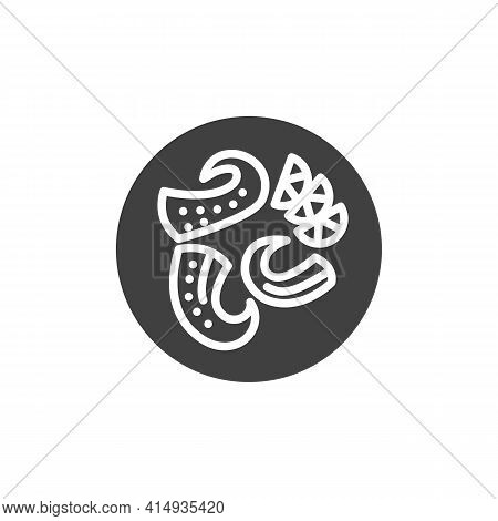 Octopus Tentacles With Lemon Vector Icon. Filled Flat Sign For Mobile Concept And Web Design. Octopu