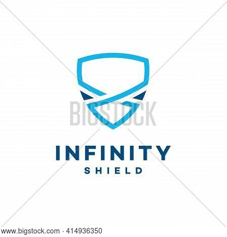 Infinity Shield Logo Designs Concept Vector, Secure And Infinity Logo Symbol Icon